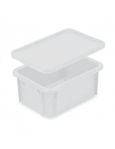 Tapa Cubeta Manutención Apilable Blanca